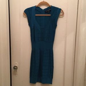 French connection Teal Bandage dress.